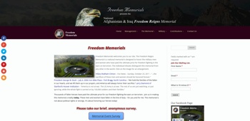 Freedom Memorials Website