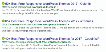 Searching for a WordPress Theme